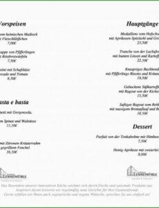Sampler Speisekarte Vorlage Zum Ausfüllen Kostenlos  Kostenlos